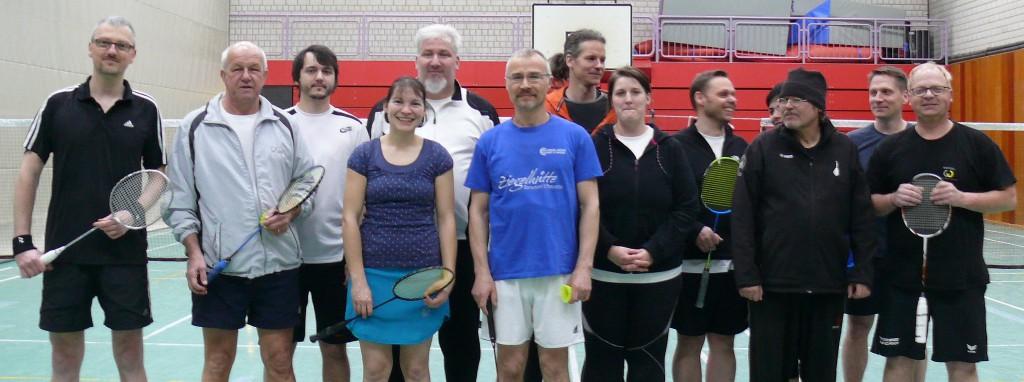 Die Hobbyliga-Spieler des ESV Jahn Treysa zu Gast beim BVA Treysa (11Feb2015)
