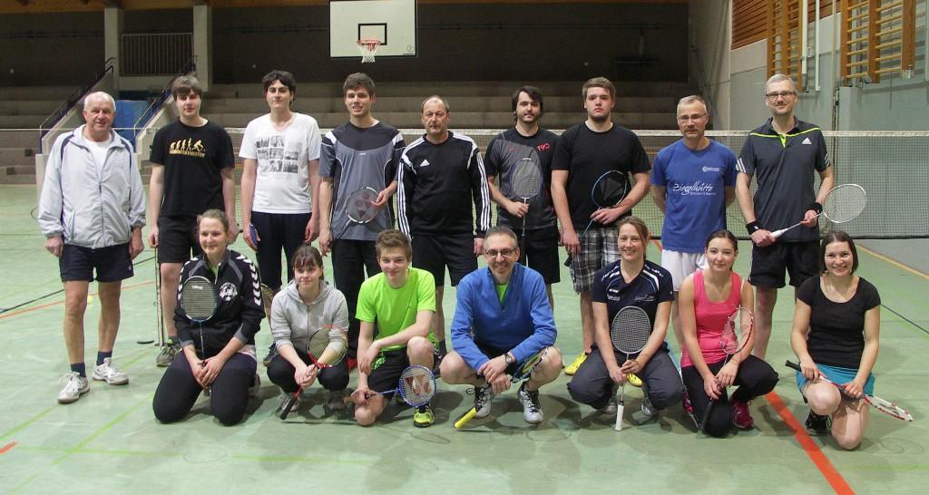 Die Hobbyliga-Mannschaften des ESV Jahn Treysa und des TV Lauterbach  (05. März 2015)
