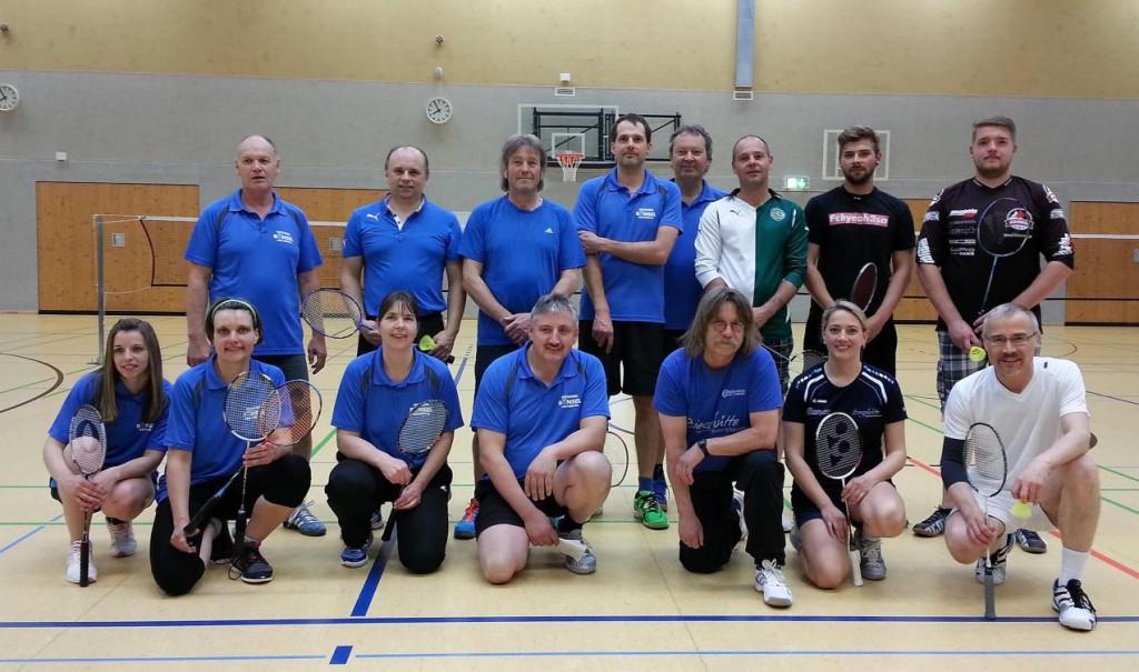 Die Hobbyliga-Mannschaften des TSV Grebenhain und ESV Jahn Treysa (19Mai2016)
